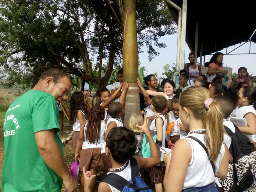 Estudantes visitam o Horto Municipal deNilópolis